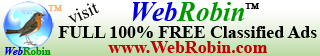 WebRobin 100% FREE Classified Ads for Business and personal promotions.
